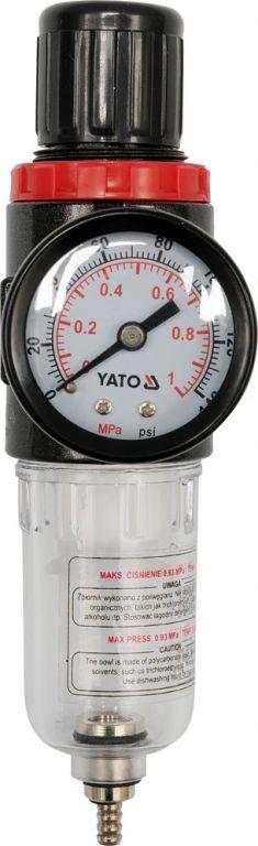 Légnyomás szabályozó szűrővel 1/4 YT-2382