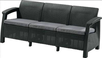 Kerti kanapé CORFU LOVE SEAT MAX, antracit