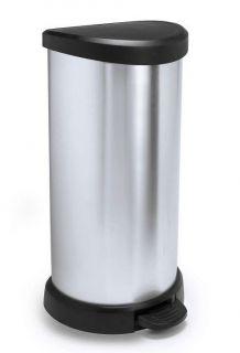 Szemeteskuka pedálos CURVER Decobin 40l - ezüst