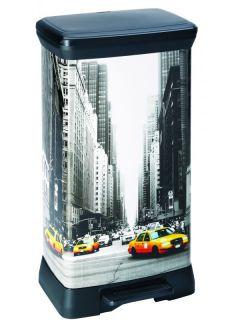 Szemeteskuka pedálos CURVER Decobin 50l - New York