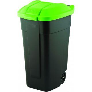 Szemetes kuka CURVER 110 l - fekete / zöld