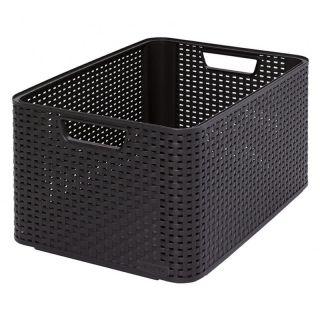 Műanyag tároló doboz STYLE BOX - L- barna CURVER