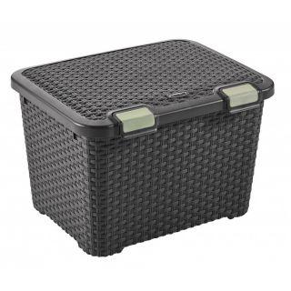 Műanyag tároló doboz STYLE BOX - 43L - barna CURVER