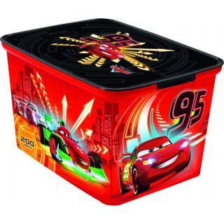 Műanyag gyerek tároló doboz - L - CARS CURVER