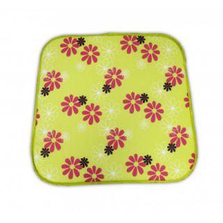Ülőke fotelra SABA  zöld virágos   30330-220