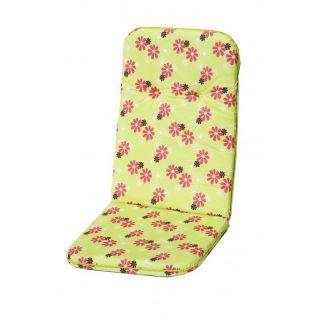 Kárpitozott párnák  magas fotelre SCALA HOCH -  zöld - virágokkal 30330-220