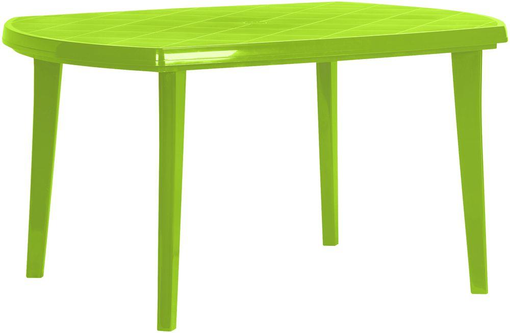 Műanyag ovális asztal ELISE - light  green