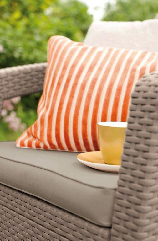 Kerti rattan bútor készlet CORFU - cappuccino