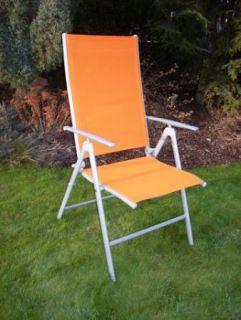 Kerti állítható szék ANF-26C, narancssárga