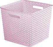 Műanyag kosár CURVER SQR BOX - rózsaszín