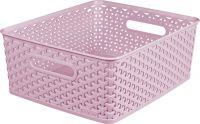 Műanyag kosár CURVER MY STYLE M - rózsaszín
