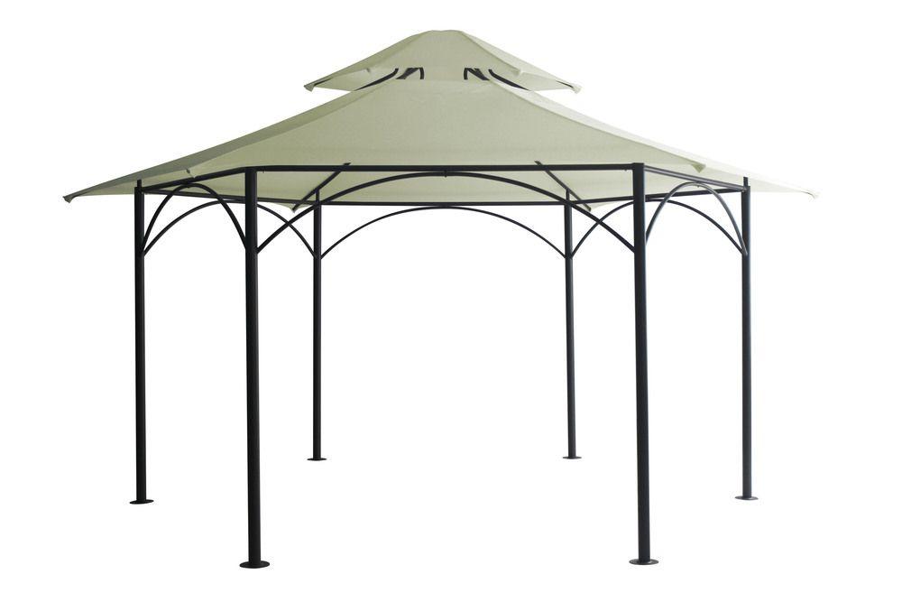 Kerti pavilon HARAFURA 2,4 x 2,4 m - elefántcsont