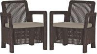 Kerti fotel készlet TARIFA - szürke/barna