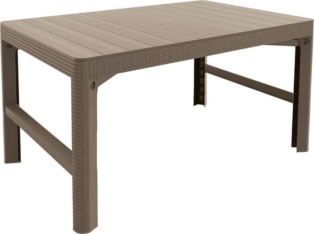 Kerti müanyag asztal LYON - cappuccino