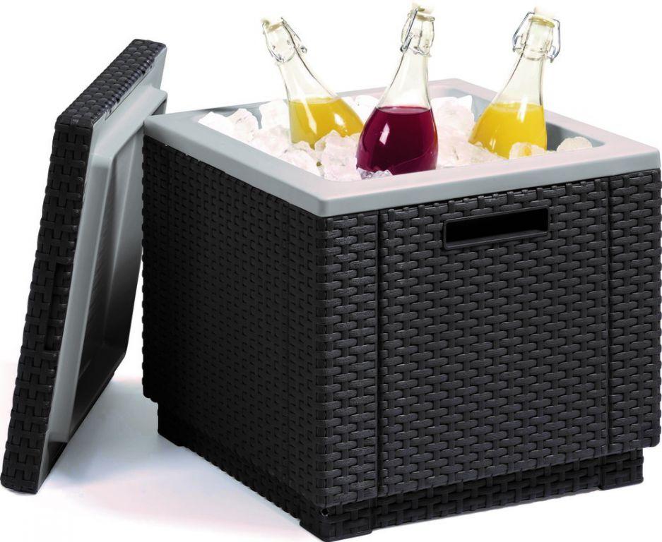 Kerti rattan hűtőgép ICE CUBE - grafit