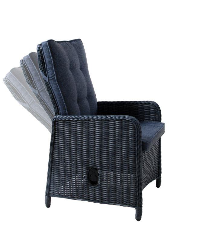 Kerti rattan szék MEMPHIS - antracit