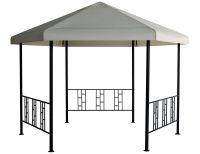 Kerti rendezvény pavilon DU416-2 szürke - 1,8 x 1,8 m