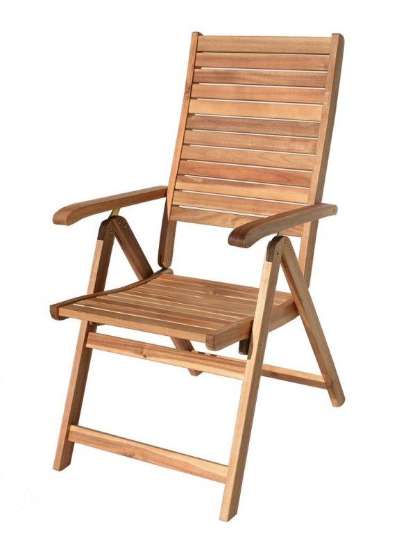 Kerti szék LEO - akácfa