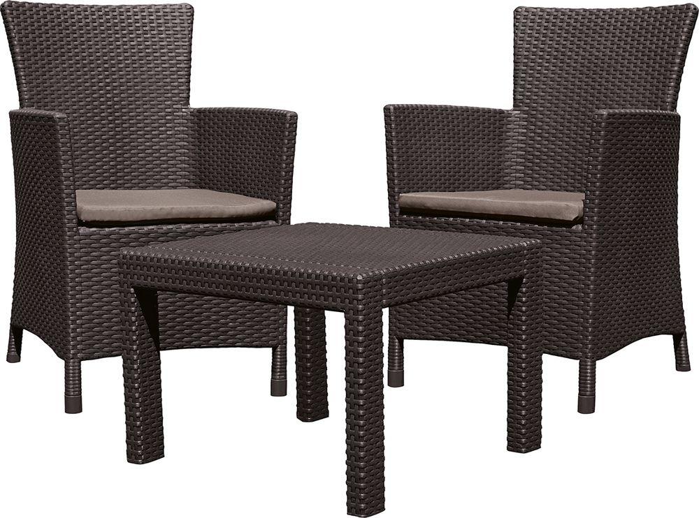 Kerti bútor készler ROSARIO BALCONY - barna