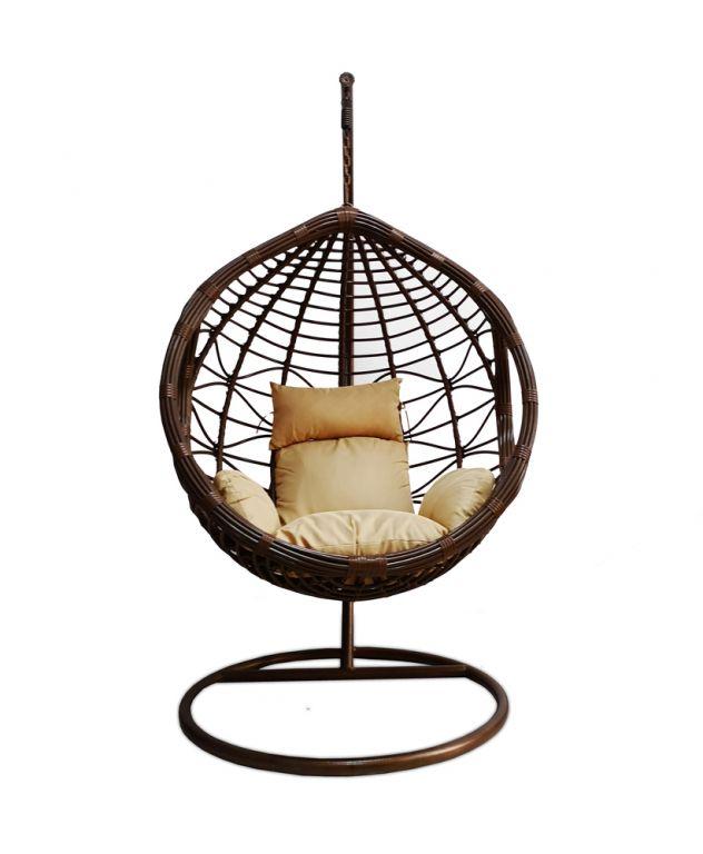 Exkluzív lógós szék KANSAS - barna