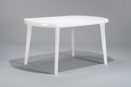 Kerti műanyag asztal ELISE - fehér