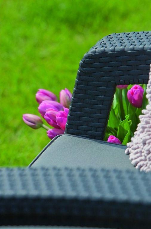 Kerti rattan bútor készlet CORFU - antracit