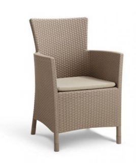 Polyrattan fotel MONTANA cappucino