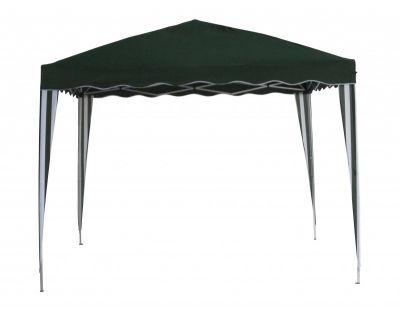 Kerti sátor F002-PL zöld 3x3m lábazattal ellátva