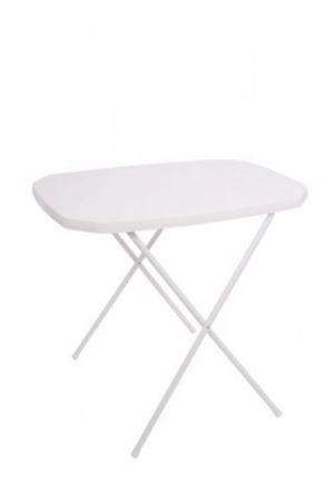 Camping asztalka - 53 x 70 cm, fehér