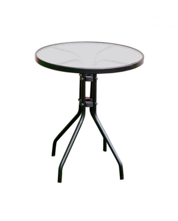 Kerti asztal üveglappal ZWT-03 60 cm